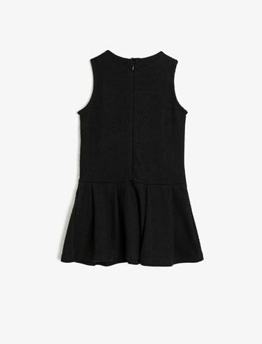 Koton Kids Fermuar Detaylı Elbise Siyah